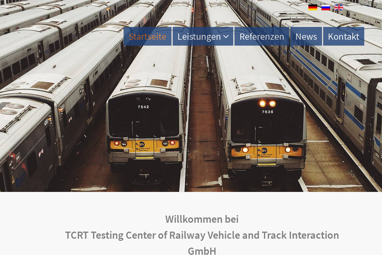 TCRT Testing Center of Railway Vehicle and Track Interaction GmbH